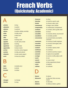 French Verbs: Quick Study Academic