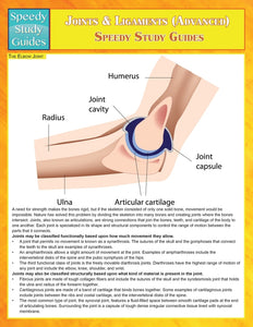 Joints & Ligaments (Advanced) (Speedy Study Guides)