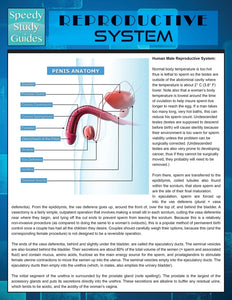 Reproductive System (Speedy Study Guide)
