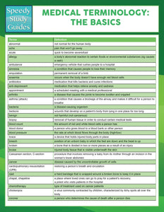 Medical Terminology: The Basics (Speedy Study Guides)