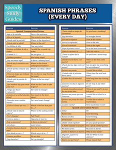 Spanish Phrases (Everyday) (Speedy Study Guides)