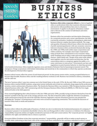 Business Ethics (Speedy Study Guide)