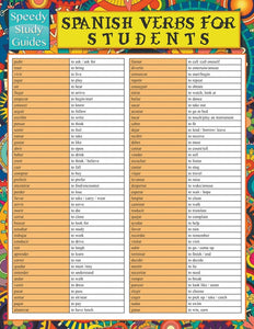 Spanish Verbs For Students (Speedy Study Guide)