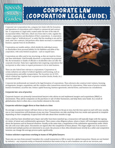 Corporate Law (Corporation Legal Guide) (Speedy Study Guide)