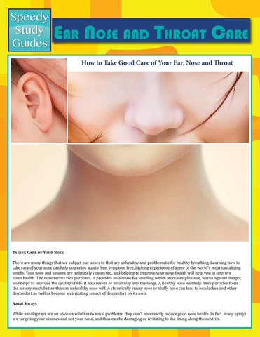 Ear Nose and Throat Care (Speedy Study Guide)