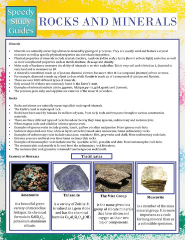 Rocks and Minerals (Speedy Study Guide)