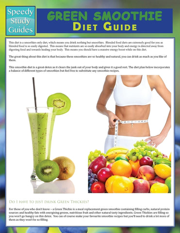 Green Smoothie Diet Guide (Speedy Study Guide)