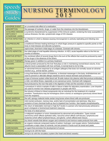 Nursing Terminology 2015 (Speedy Study Guide)