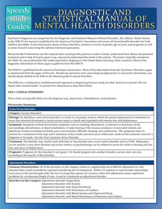 Diagnostic and Statistical Manual of Mental Health Disorders (Speedy Study Guide)