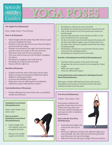 Yoga Poses (Speedy Study Guide)