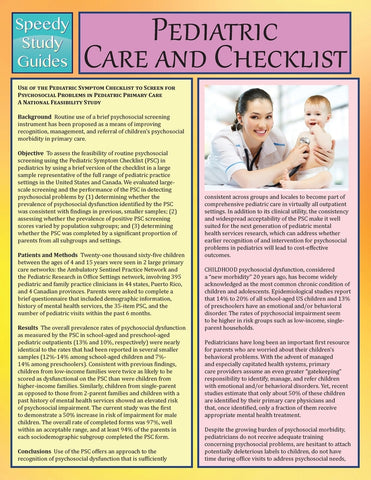 Pediatric Care and Checklist (Speedy Study Guide)