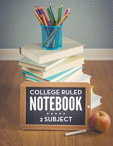 College Ruled Notebook: 2 Subject