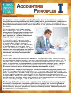 Accounting Principles 1 (Speedy Study Guides)
