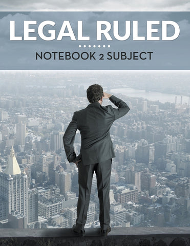 Legal Ruled Notebook 2 Subject