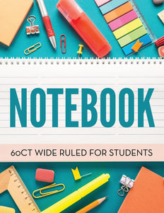Notebook 60Ct Wide Ruled For Students