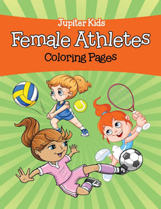 Female Athletes (Coloring Pages)