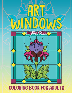 Art Windows: Coloring Book For Adults