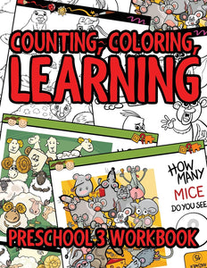 Counting Coloring Learning: Preschool 3 WorkBook