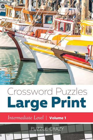 Crossword Puzzles Large Print (Intermediate Level) Vol. 1