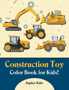 Construction Toy Color Book for Kids!