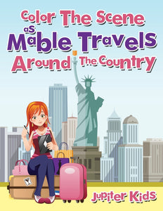 Color The Scene As Mable Travels Around The Country