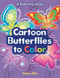Cartoon Butterflies to Color a Coloring Book