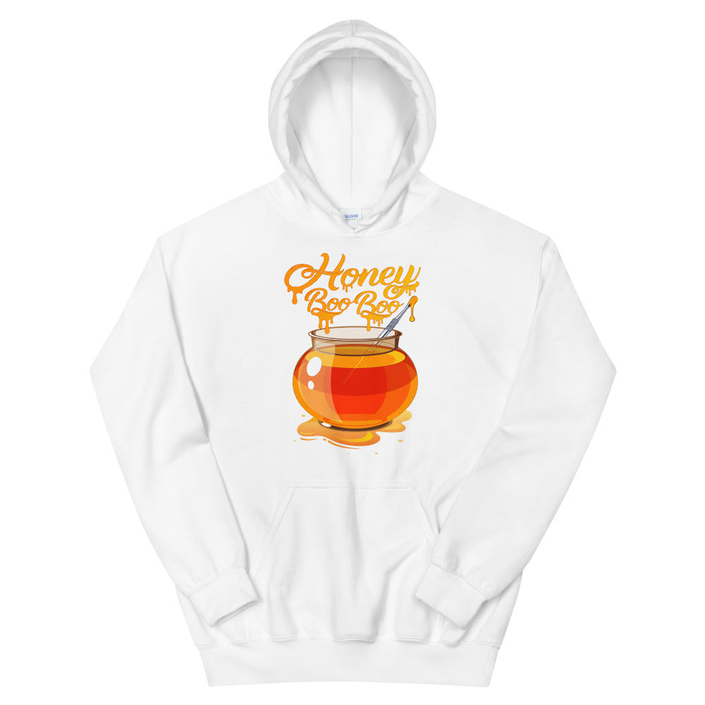 White Hoodie with Honey BOO BOO logo by RefuseTheBrand - LifeBeingDest