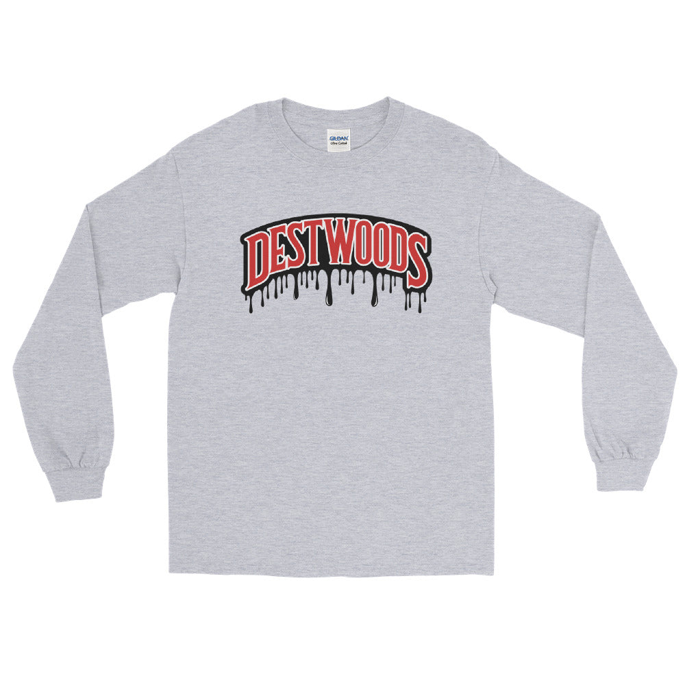 RED DESTWOODS LOGO LONG SLEEVE TEE
