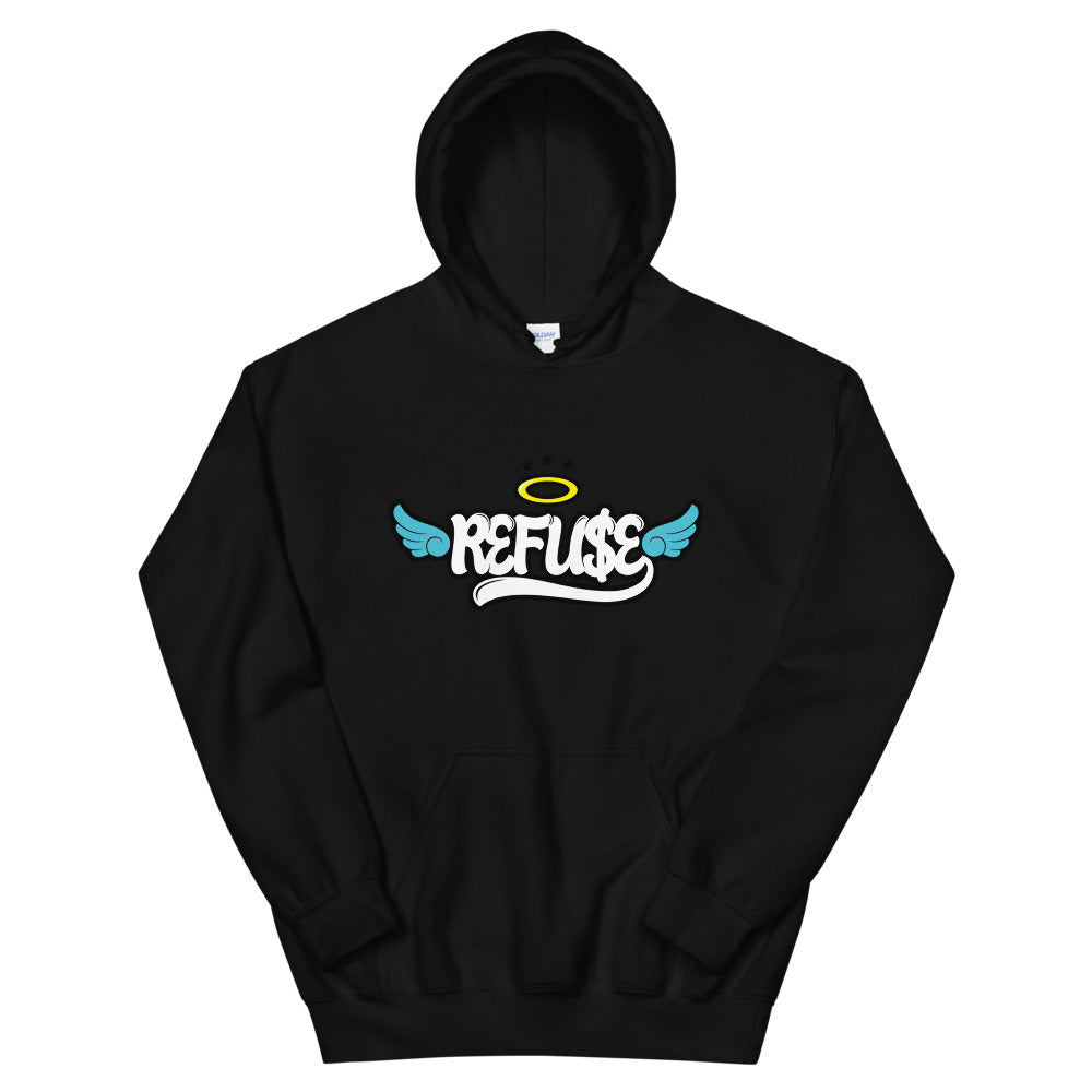 Black Hoodie with the Refuse Logo by RefuseTheBrand - LifeBeingDest