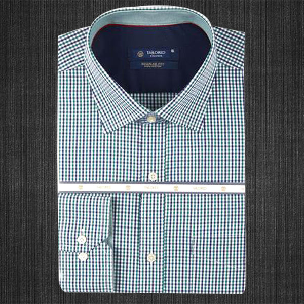 Men Formal 100% Cotton Shirt - Green