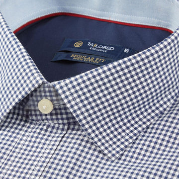 Men Formal 100% Cotton Shirt - Navy Blue