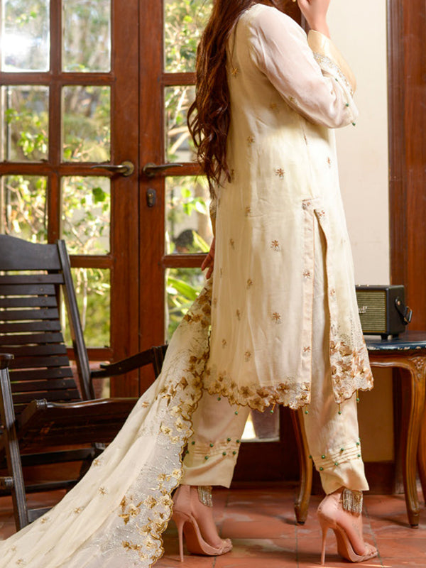 Yasmin Arif Chiffon Embroidered Un-Stitched Suit - AD4