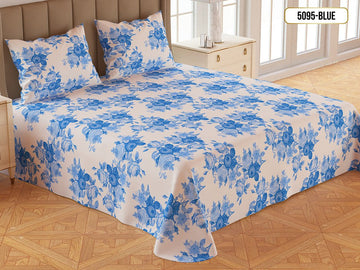 Printed Gold Double Bed Sheet-5095
