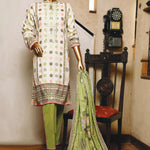 Cambric Embroidered Unstiched 3pc Suit