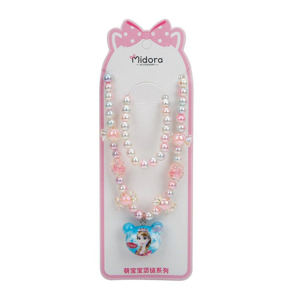 Baby Necklace Set Frozen - Pink & White
