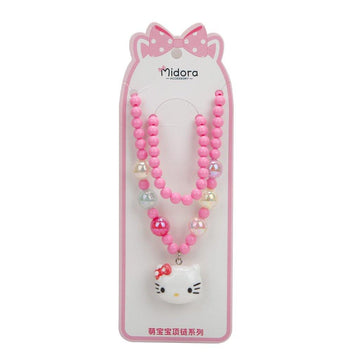 Baby Necklace Set Hello Kitty - Pink