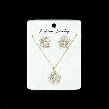 Cubic Zirconia Locket Set A-2-2