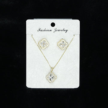 Cubic Zirconia Locket Set A-3-2