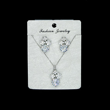 Cubic Zirconia Locket Set A-5-1
