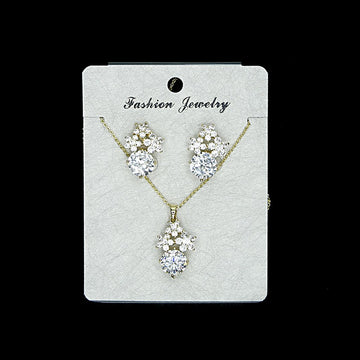 Cubic Zirconia Locket Set A-5-2