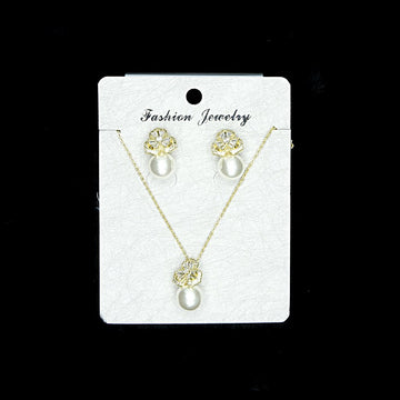 Cubic Zirconia Locket Set A-7-2