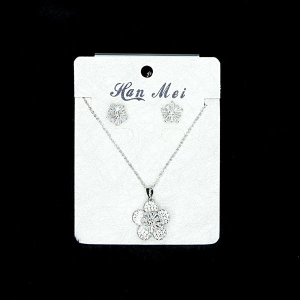 Cubic Zirconia Locket Set A-8-1
