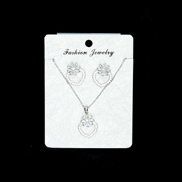Cubic Zirconia Locket Set A-9-1