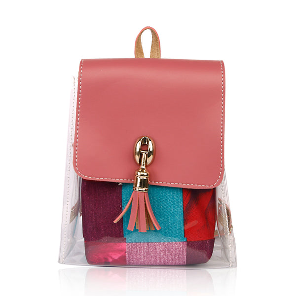 Women Fancy Backpack - Pink