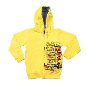 Hooded Full Zipper Jacket Terry