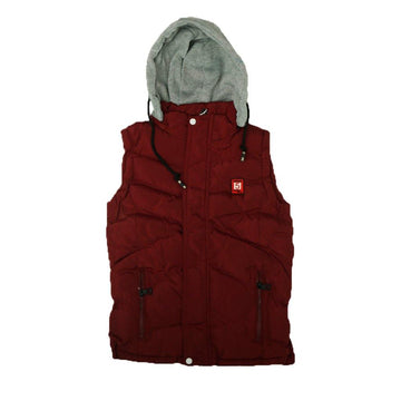 Hooded Vest Puffer Jacket