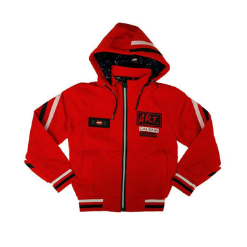 Hooded Full Zipper Polyester Jacket