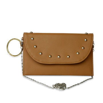 Women Fancy Hand Clutch - Beige