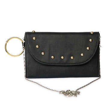 Women Fancy Hand Clutch - Black
