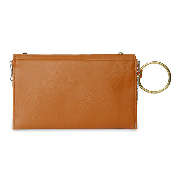 Women Fancy Hand Clutch - Brown